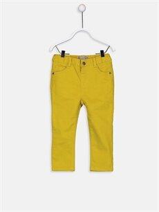 Yeşil Erkek Bebek Gabardin Pantolon 9W0482Z1 LC Waikiki