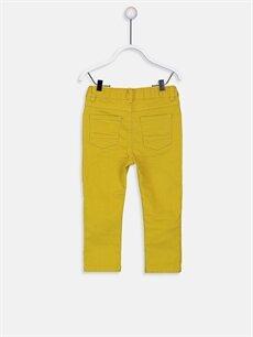 %98 Pamuk %2 Elastan Dar Erkek Bebek Gabardin Pantolon