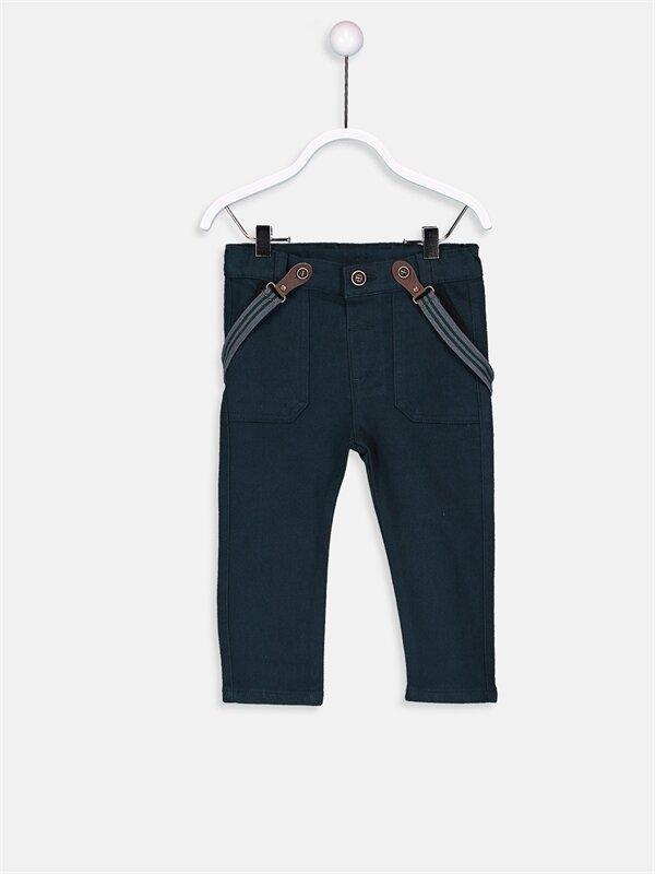 Erkek Bebek Gabardin Pantolon Ve Pantolon Askısı 2'li  - LC WAIKIKI