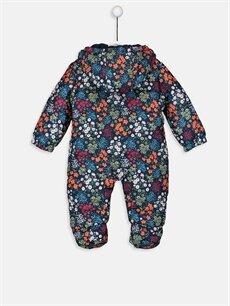 %100 Polyester %100 Polyester  Kız Bebek Desenli Astronot Mont