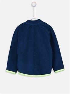 %100 Polyester  Erkek Bebek Fermuarlı Polar Sweatshirt
