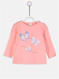 Kız Bebek Kız Bebek Pamuklu Baskılı Pijama Takımı 3'lü