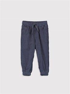 Gri Erkek Bebek Jogger Kadife Pantolon 9W1666Z1 LC Waikiki
