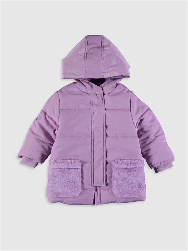 Kız Bebek Kapüşonlu Fermuarlı Kaban - LC WAIKIKI