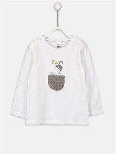 Beyaz Erkek Bebek Pamuklu Tişört 9W2334Z1 LC Waikiki