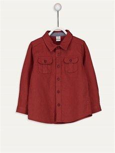 Kırmızı Erkek Bebek Twill Gömlek 9W2680Z1 LC Waikiki