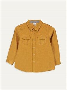 Sarı Erkek Bebek Twill Gömlek 9W2680Z1 LC Waikiki