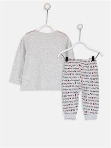 %98 Pamuk %2 Polyester Pijamalar Standart Kız Bebek Desenli Pijama Takımı