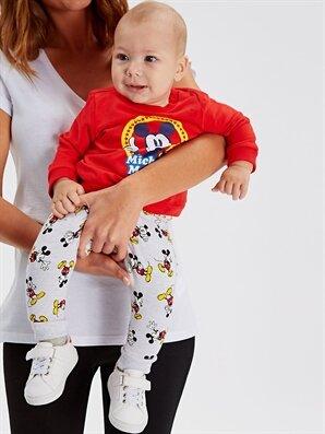Erkek Bebek Mickey Mouse Baskılı Sweatshirt 2'li - LC WAIKIKI