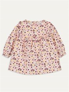 Pembe Kız Bebek Desenli Elbise 9W4002Z1 LC Waikiki