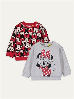 Kız Bebek Minnie Mouse Baskılı Tişört 2'li - LC WAIKIKI