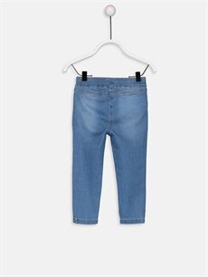 %90 Pamuk %7 Polyester %3 Elastan Standart Kız Bebek Jean Pantolon