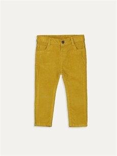 Sarı Erkek Bebek Slim Fıt Kadife Pantolon 9W6357Z1 LC Waikiki