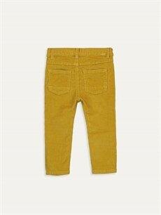 %98 Pamuk %2 Elastan Dar Normal Bel Erkek Bebek Slim Fıt Kadife Pantolon