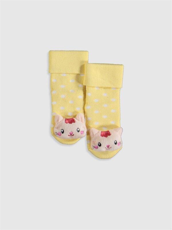 Kız Bebek Puantiyeli Aplikeli Ev Çorabı - LC WAIKIKI