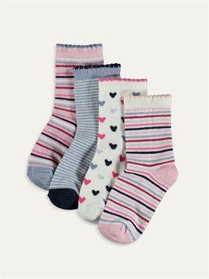 Kız Bebek Soket Çorap 4'lü - LC WAIKIKI