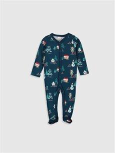 Lacivert Erkek Bebek Yılbaşı Temalı Tulum 9W8283Z1 LC Waikiki