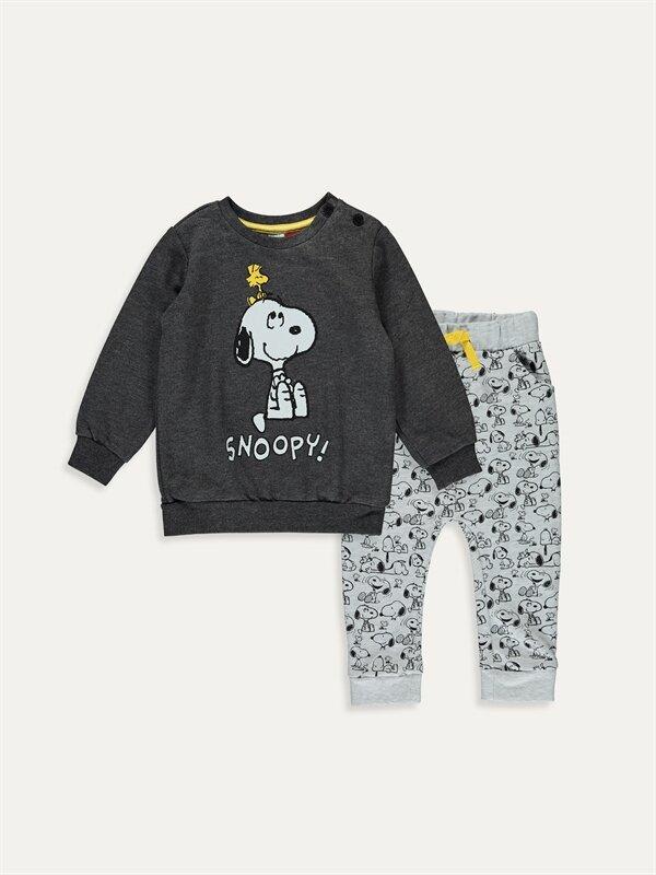 Erkek Bebek Snoopy Baskılı Takım 2'li - LC WAIKIKI
