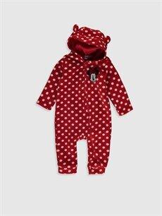 Kırmızı Kız Bebek Minnie Mouse Puantiyeli Tulum 9W9177Z1 LC Waikiki