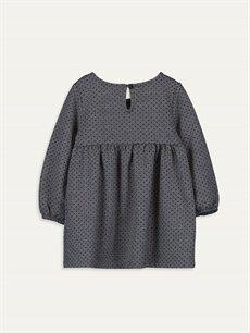 %39 Pamuk %61 Polyester Desenli Kız Bebek Desenli Elbise