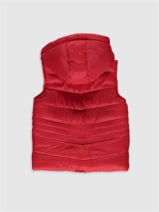 %100 Polyamide %100 U:  POLYAMIDE %100 Polyester Orta Yelek Kız Bebek Kapüşonlu Fermuarlı Yelek