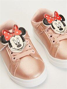 LC Waikiki Sarı Kız Bebek Minnie Mouse Aplikeli Ayakkabı