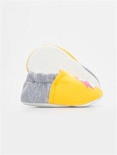 Kız Bebek Kız Bebek Baskılı Ev Ayakkabısı