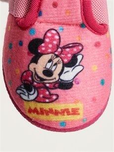 LC Waikiki Pembe Kız Bebek Minnie Mouse Baskılı Panduf