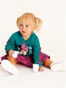 Kız Bebek Kız Bebek Minnie Mouse Baskılı Sweatshirt