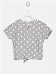 %68 Pamuk %32 Polyester Standart Baskılı Kısa Kol Tişört Bisiklet Yaka Kız Bebek Minnie Mouse Baskılı Tişört