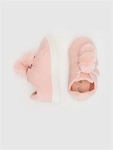 %0 Diğer malzeme (poliüretan)  Kız Bebek Ponponlu Günlük Spor Ayakkabı