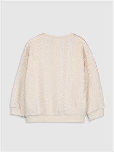%52 Pamuk %42 Polyester %6 Elastan  Kız Bebek Jakarlı Sweatshirt
