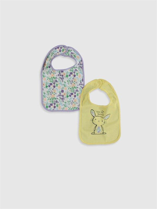Kız Bebek Desenli Mama Önlüğü 2'li - LC WAIKIKI