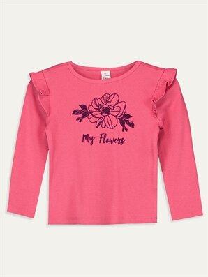 Kız Bebek Yazı Baskılı Pamuklu Tişört - LC WAIKIKI