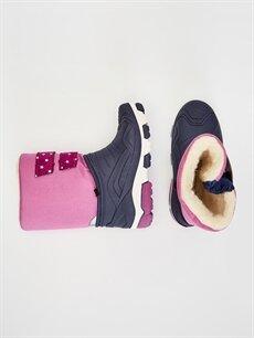 %0 Diğer malzeme (poliüretan) %0 Tekstil malzemeleri (%100 poliester)  Kız Bebek Cırt Cırtlı Kar Botu