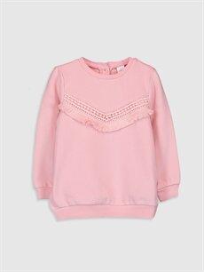 Pembe Kız Bebek Sweatshirt 9WK164Z1 LC Waikiki