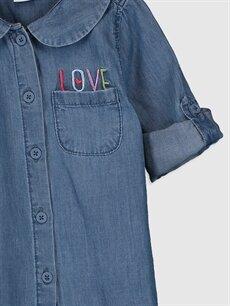 Kız Bebek Kız Bebek Jean Gömlek