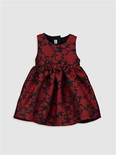 Kırmızı Kız Bebek Desenli Elbise 9WK329Z1 LC Waikiki