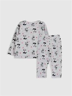 %97 Pamuk %3 Polyester %97 Pamuk %3 Polyester Standart Pijama Kız Bebek Baskılı Pijama Takımı