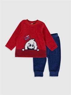 Kırmızı Erkek Bebek Desenli Pijama Takımı 9WK731Z1 LC Waikiki