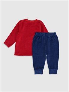 %80 Pamuk %20 Polyester Pijamalar Standart Erkek Bebek Desenli Pijama Takımı