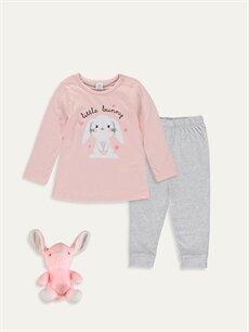 Pembe Kız Bebek Pijama Takımı 9WL137Z1 LC Waikiki