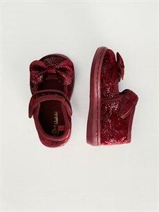 %0 Tekstil malzemeleri (%100 poliester)  Kız Bebek Fiyonklu Babet Ayakkabı
