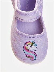 LC Waikiki Lila Kız Bebek Unicorn Desenli Babet Ayakkabı