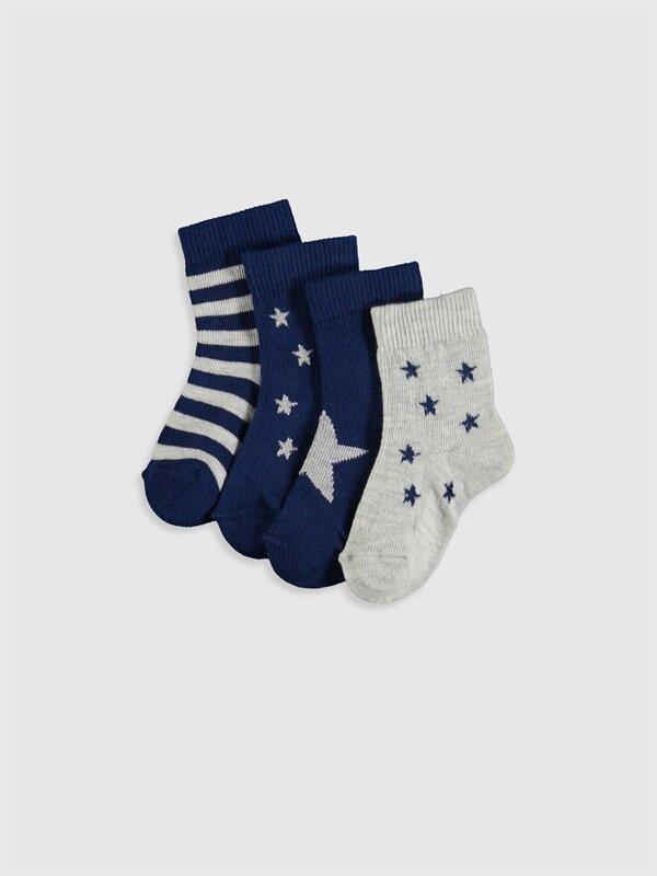 Erkek Bebek Desenli Soket Çorap 4'lü - LC WAIKIKI