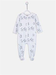Beyaz Erkek Bebek Desenli Patikli Tulum 9WL990Z1 LC Waikiki