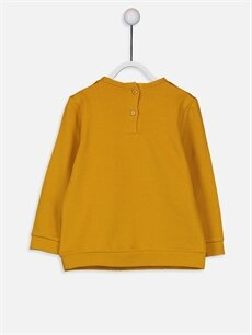%81 Pamuk %19 Polyester  Kız Bebek Baskılı Sweatshirt