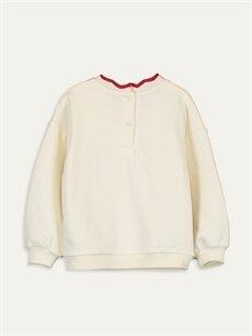 %69 Pamuk %31 Polyester  Kız Bebek Baskılı Sweatshirt