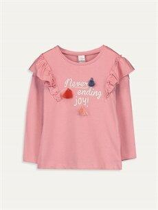Pembe Kız Bebek Pamuklu Tişört 9WM241Z1 LC Waikiki