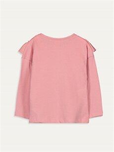 %100 Pamuk Standart Baskılı Uzun Kol Tişört Diğer Kız Bebek Pamuklu Tişört